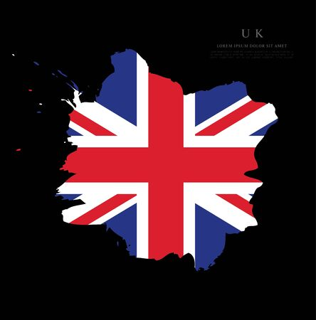 Flag of the United Kingdom of Great Britain and Northern Ireland vector illustration