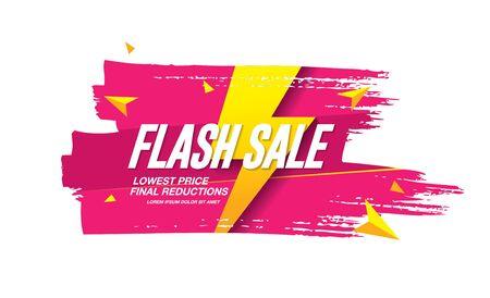 Ilustración de vector de diseño de banner de venta flash