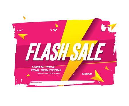 flash sale banner layout design vector illustration Иллюстрация