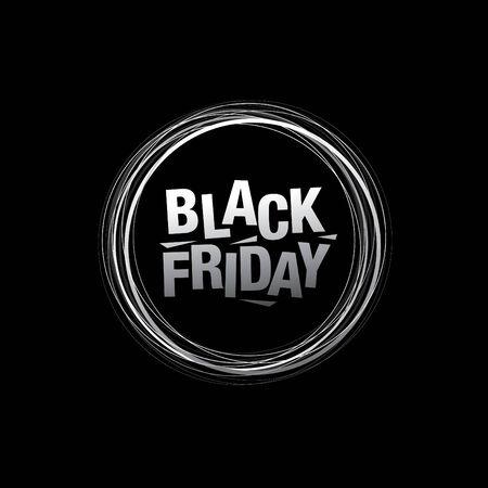black friday sale icon layout design, vector illustration