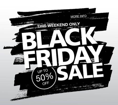 black friday sale poster layout design, vector illustration, grunge slyle