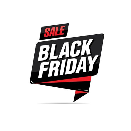black friday sale label layout design, vector illustration, grunge slyle