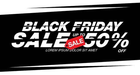 black friday sale poster layout design, vector illustration
