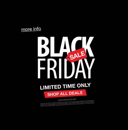 black friday sale banner lay-outontwerp, vectorillustratie Vector Illustratie