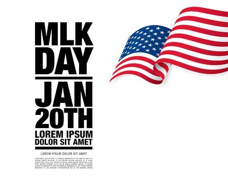 martin luther king day banner layout design, vector illustration Vektorgrafik