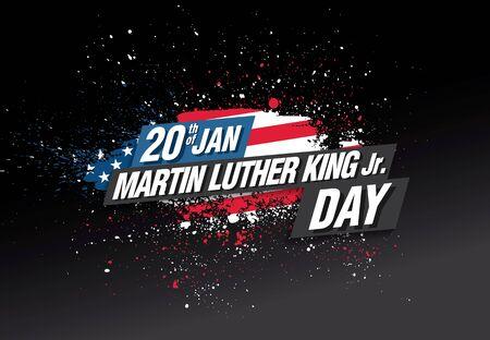 martin luther king day banner layout design, vector illustration Illustration