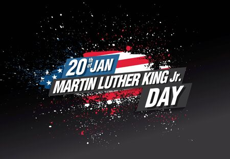 martin luther king day banner layout design, vector illustration Illustration