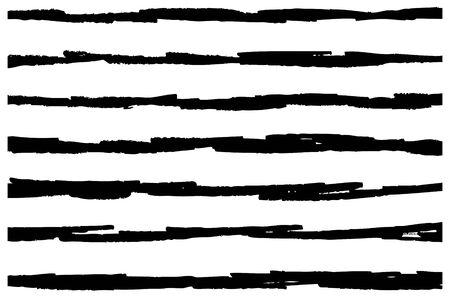 Hand gezeichneter horizontaler Streifenmusterhintergrund