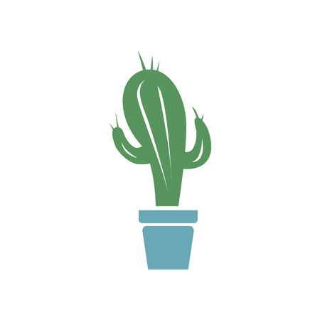 cactus abstract corporate identity, vector illustration