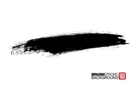 black vector brushstroke background, vector illustration Vector Illustratie