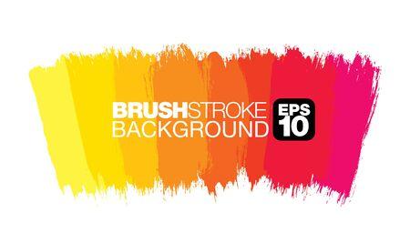 colorful vector brushstroke background, vector illustration Ilustração