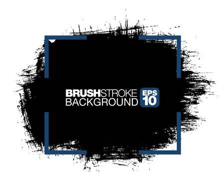 black vector brushstroke background, vector illustration