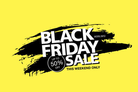 black friday sale poster layout design, vector illustration