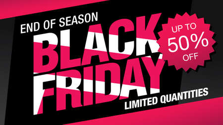 black friday sale banner layout design, vector illustration