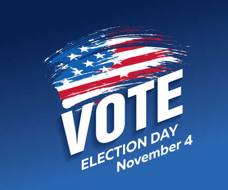 vote election day banner layout design, vector illustration
