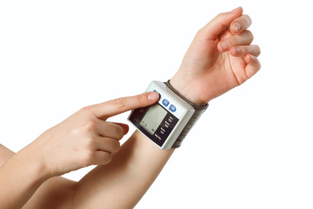 systolic: hand with the tonometer
