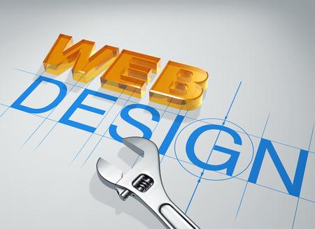 3d inscription in block letters web design