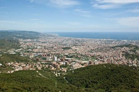 tibidabo: Views of Barcelona from the height of Mount Tibidabo