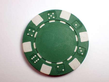 poker chip: single Greener Poker Chip Stock Photo