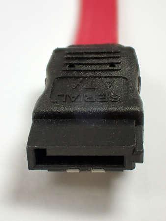 sata: Stecker eines SATA Kabels
