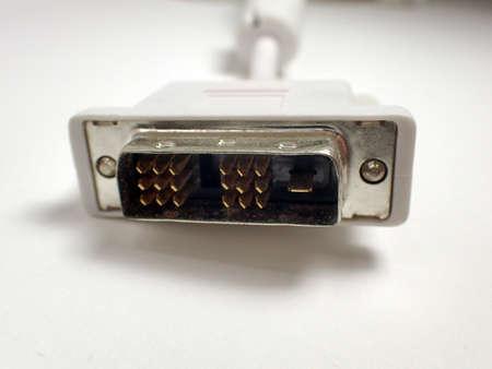 dvi: Stecker eines DVI Kabels