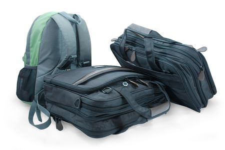 Luggage (backpack and two suitcases)
