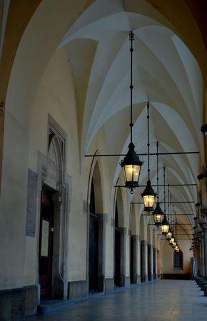 Sukiennice, the Cloth Hall - a landmark of Rynek (the market square) in Krakow, Poland Standard-Bild