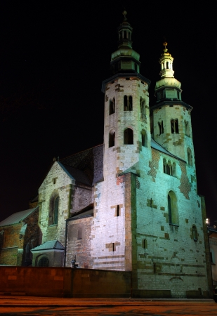 St Andrew s Church on Grodzka Street by night - Krakau Polen