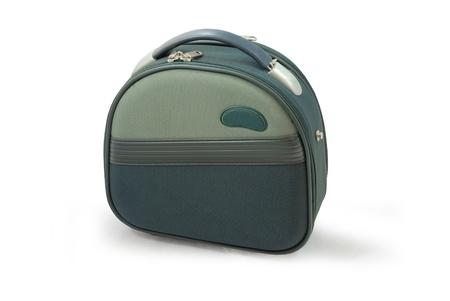 Little green coffer isolated on white background  Standard-Bild