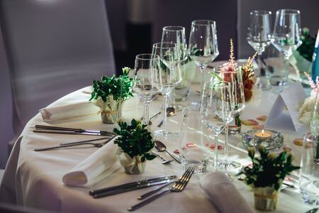 Table in the restaurant - luxury event