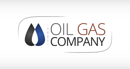 oil and gas industry: Logo for Oil Gas industry. 2 connected drops depicting a flame of fire