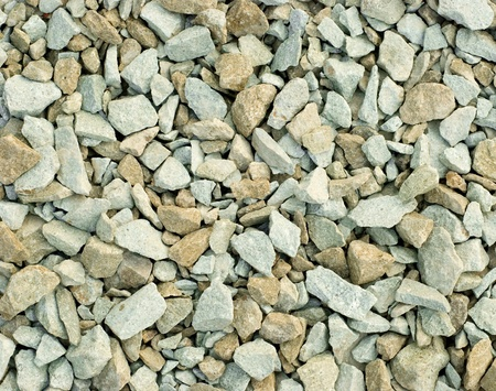 spall: interesting background from crushed stones Stock Photo