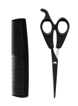 haircutting: haircutting tools Stock Photo
