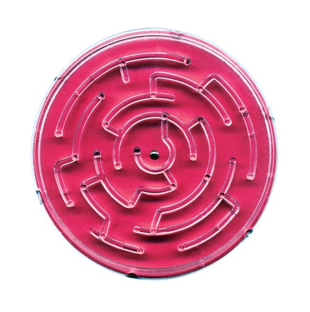 labyrinth on a white background photo