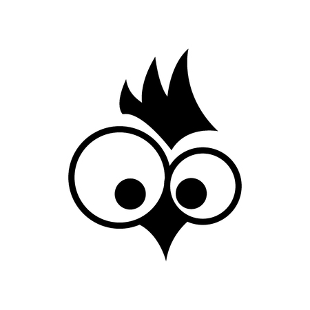 Rooster. Cock. Abstract rooster logo, cock icon. Symbol. .Monochrome vector illustration design element 일러스트