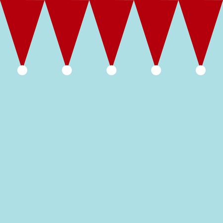 Santa Claus hat as banner seamless pattern