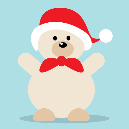 Polar bear cartoon vector illustration. Stock Illustratie