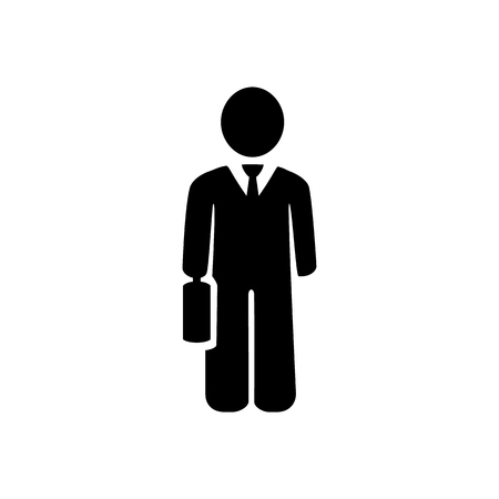 Businessman Icon. Businessman black web icon. vector illustration Zdjęcie Seryjne - 91214232