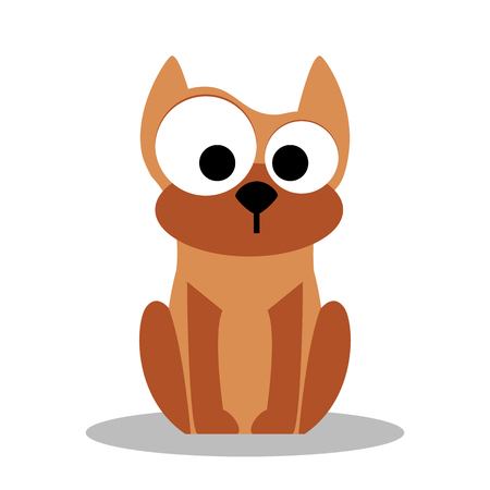 Dog. Vector funny cartoon dog - illustration in flat style Illustration