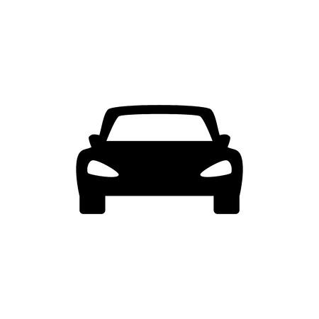 Car vector icon. Isolated simple front car icon illustration. Sign Ilustracja