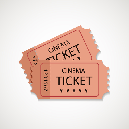 Retro cinema tickets. Vintage movie tickets design. Vector illustration. 일러스트