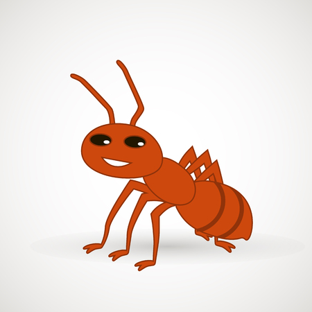 Cute ant cartoon vector illustration. Vector design element for icon, web and print.