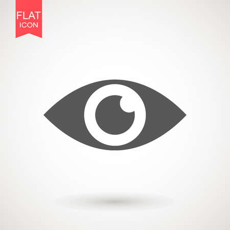 Eye, look and vision icon. Web site page and mobile app design vector element. Sign of view, look, opinion, glance, peek, glimpse, eye beam, eye wink. Flat design style.