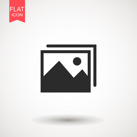 Picture vector icon, image symbol. Picture coming soon. Means that no photo. Missing image sign or uploading No image available or folder archive. Flat vector illustration for web site or mobile app . Stock Illustratie