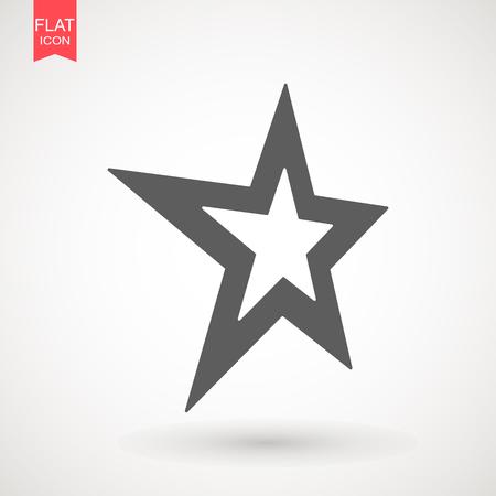 Star icon vector , black favorite web symbol. Star Icon vector.