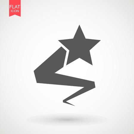 Shooting star icon design Illustration