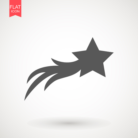 Shooting star icon design Vectores