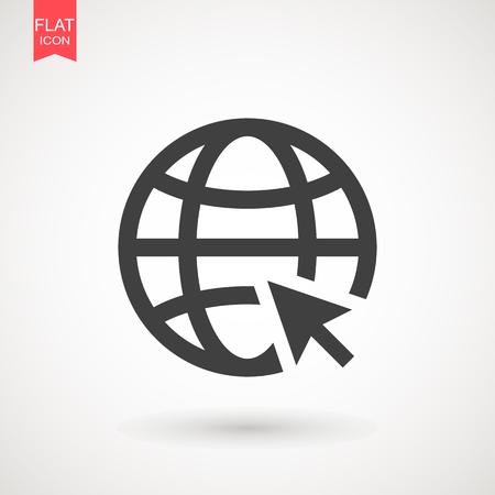 Gray Go to web icon isolated on background. Logo illustration