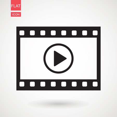 Video icon. film strip vector, flat design best vector icon 向量圖像