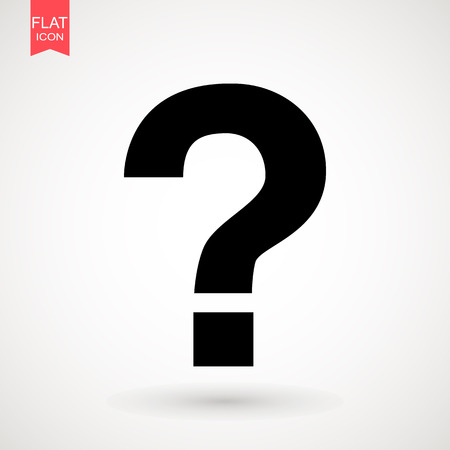 Question Icon Vector flat design style. Question mark sign icon, vector illustration